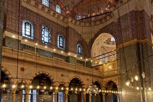 Uuden moskeijan galleria Istanbul