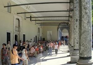 Valloittajan paviljonki kaarikäytävä Topkapi-palatsi Istanbul