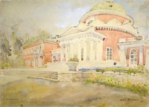 Karl Burman 1948 akvarellityö Viron arkkitehtuurimuseo Tallinna