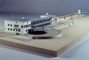 Pärnu rannakohvik pienoismalli Viron arkkitehtuurimuseo