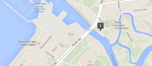 Pirita venevuokraus kartta Piritajoki Tallinna