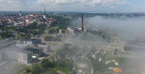 Tallinn Balloon näkymät vanhaankaupunkiin