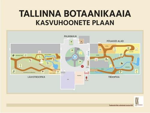 Tallinnan kasvitieteellisen puutarhan kasvihuoneiden kartta