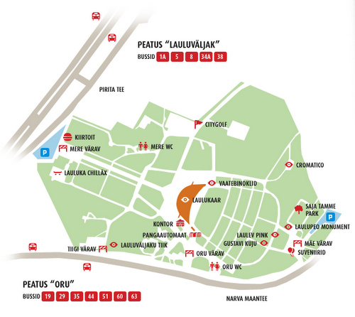 Tallinnan laululava kartta