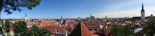 Tallinnan vanhakaupunki panorama