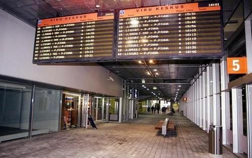 Viru Keskus bussiterminaali Tallinna