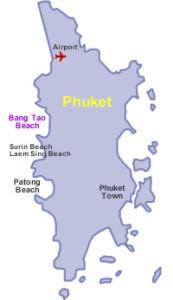 Bangtao Beach kartta Thaimaa