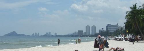 Hua Hin rantakauppiaat Thaimaa