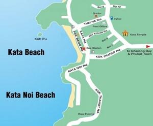 Kata Beach Thaimaa kartta