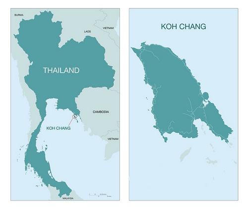 Koh Chang kartta Thaimaa