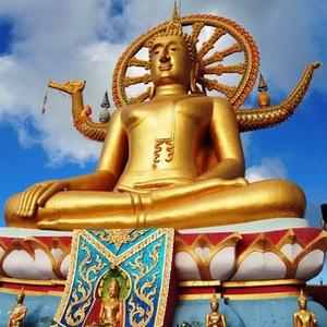 Suuri Buddha patsas Koh Samui Thaimaa