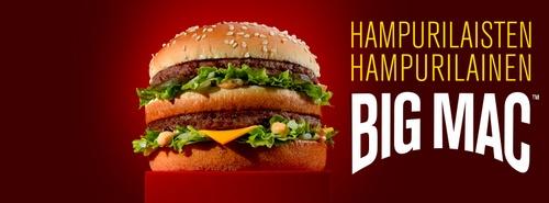 McDonalds Big Mac hampurilainen Helsinki