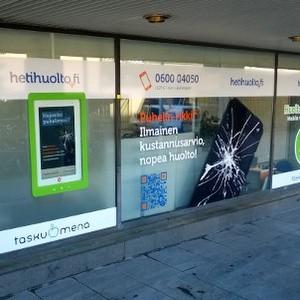 Hetihuolto matkapuhelinhuolto Kauppakeskus Kamppi Helsinki