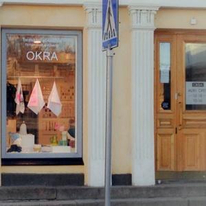 Taidekäsityö- ja designmyymälä OKRA Torikorttelit Helsinki