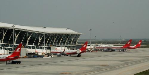 Shanghain Pudongin lentokenttä terminaali 2