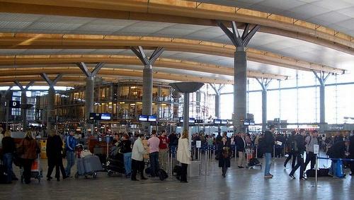 Oslon lentoaseman check-in alue