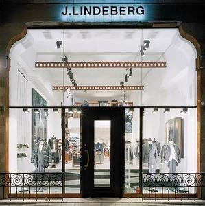 J. Lindeberg vaatekauppa Biblioteksgatan Tukholma