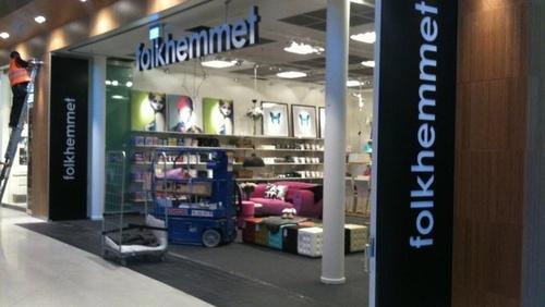 Folkhemmet huonekalu- ja sisustusliike Bromma Blocks Tukholma