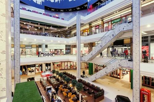 London Mall ostoskeskus Pietari Venäjä.