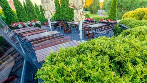 Siilipubi ravintolan kesäterassi Tallinna.