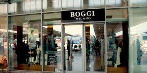 Boggi Milano store at Santa Lucia train station in Venice, Italy.