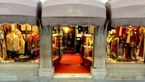 Buosi Successori men's clothing store in Venice, Italy.