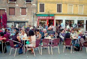 Caffe Rosso in Venice, Italy.