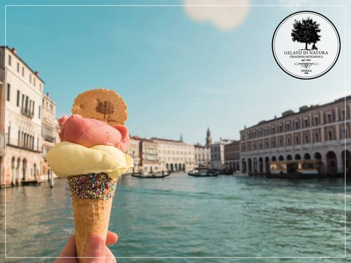 Gelato di Natura's gelato ice cream, available in Venice, Italy.