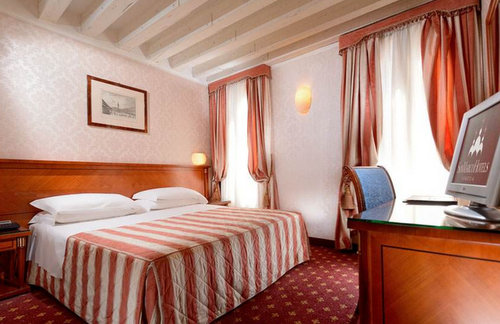 Guest room at Albergo Cavalletto and Doge Orseolo Hotel in Venice, Italy.