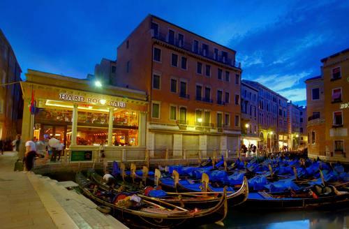 Hard Rock Cafe restaurant in Venice, Italy.