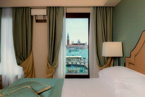 Hotel Paganelli guest room in Venice, Italy.