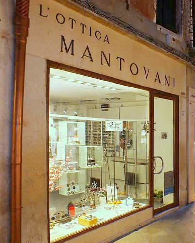 Ottica Mantovani optical store in Venice, Italy.