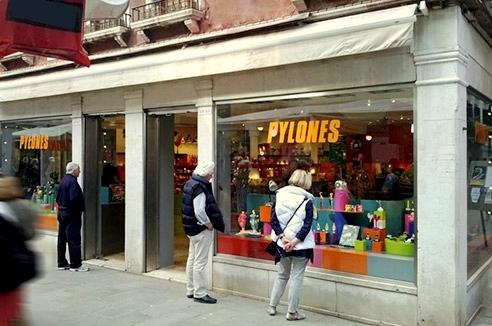 Pylones design & gift store in Venice, Italy.