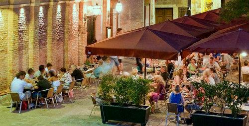 Birraria La Corte restaurant in Venice, Italy.