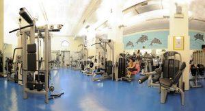 Club Delfino fitness center in Venice, Italy.