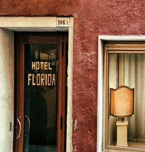 Hotel Florida in Venice, Italy.