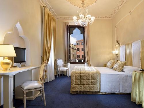 Hotel Principe's guest room in Venice, Italy.
