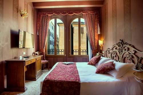 Hotel Tiziano Venezia's guest room in Venice, Italy.