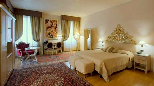 Liassidi Palace Hotel's guest suite in Venice, Italy.
