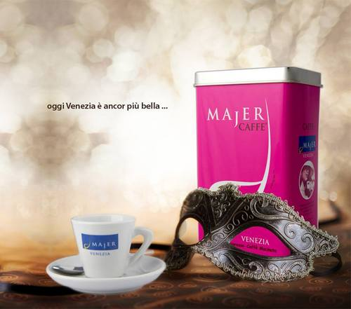 Majer Venezia coffee, available in Venice, Italy.