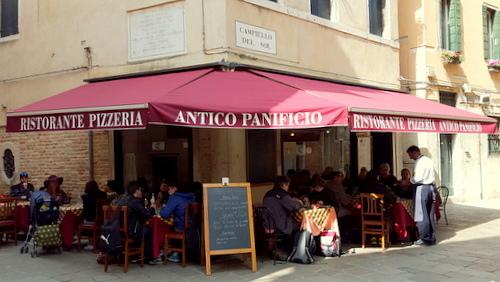 Ristorante Pizzeria Antico Panificio in Venice, Italy.