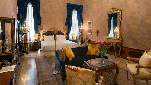 Palazzo Venart Hotel's guest room in Venice, Italy.